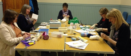 Members of the Craft Club working on a project in Whitehall Road Methodist Church in Bensham, Gateshead.