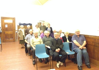 Some of the members of the Tuesday Fellowship, in the Lounge of Whitehall Road Methodist Church in Bensham, Gateshead.