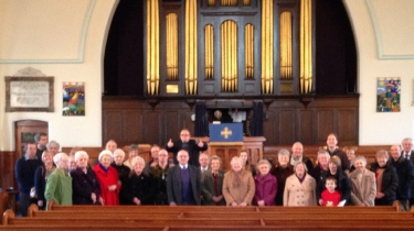 Some of the congregation at Whitehall Road Methodist Church in Bensham, Gateshead.